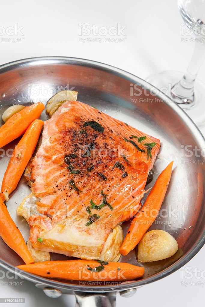 Cooked Salmon royalty-free stock photo