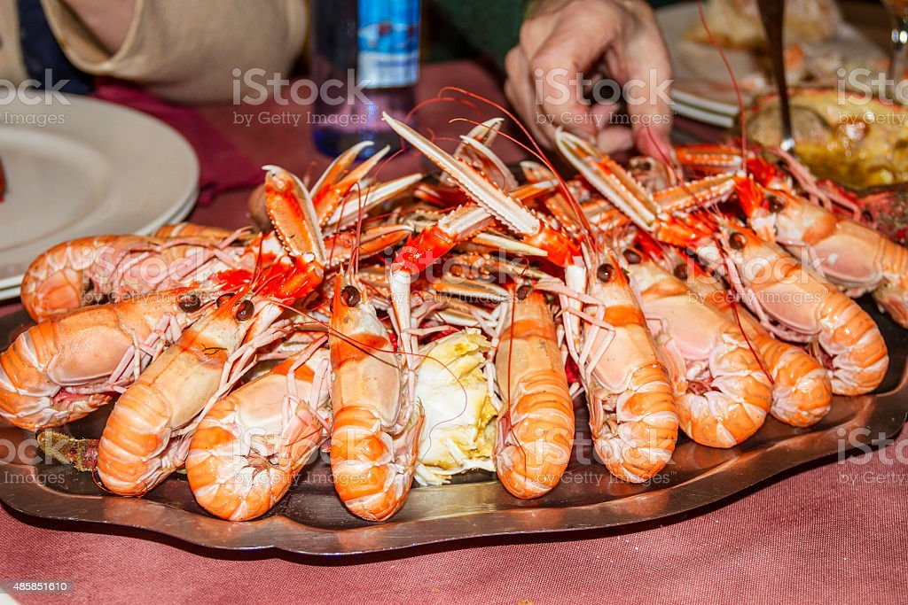 Cooked scampi royalty-free stock photo