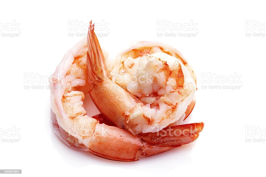 Cooked Shrimp royalty-free stock photo
