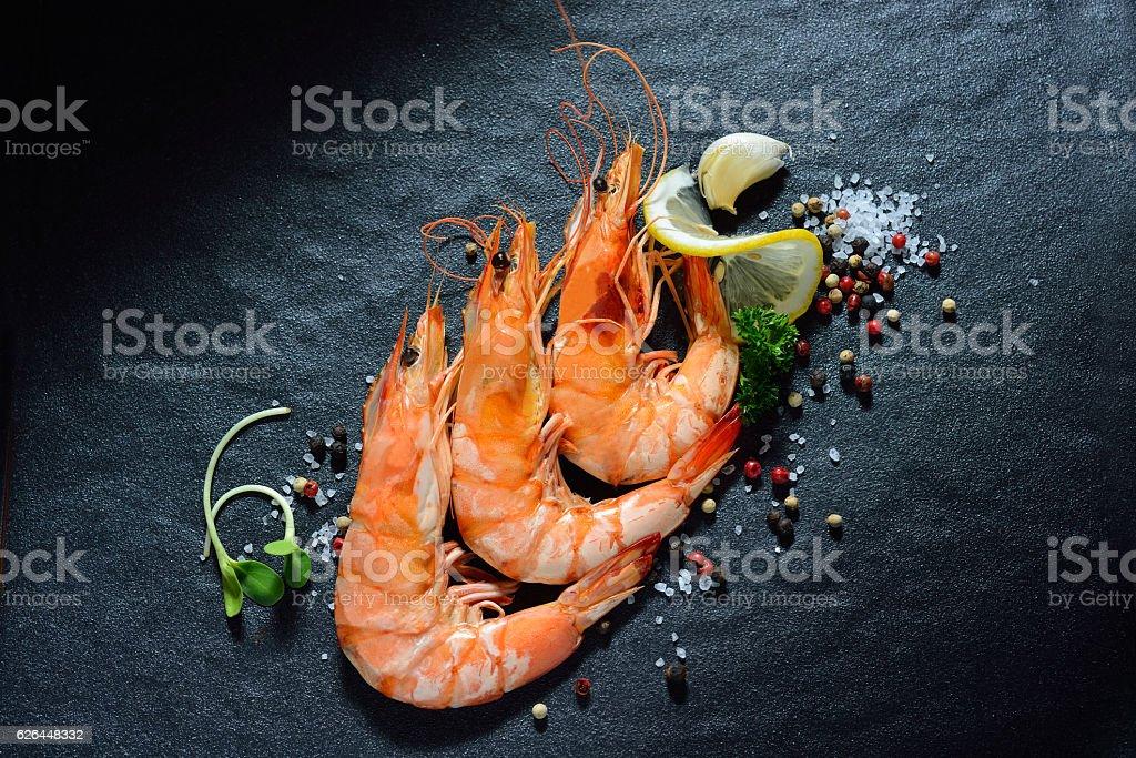 Cooked shrimps,prawns stock photo