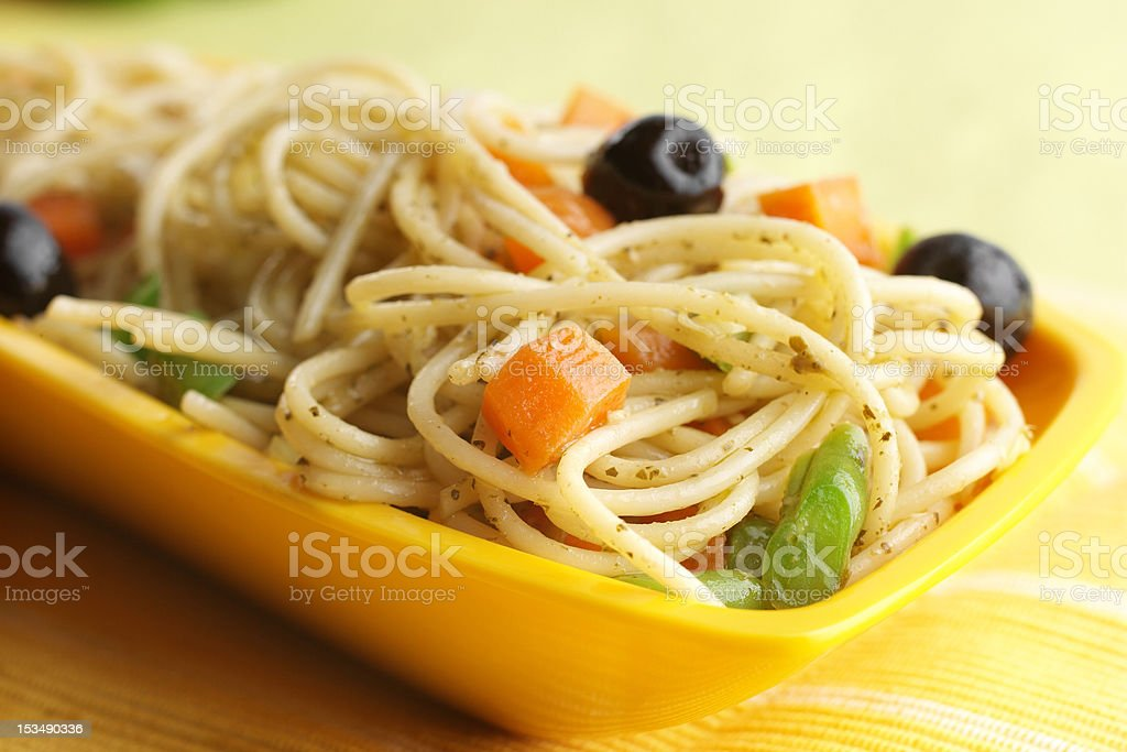 Cooked spaghetti royalty-free stock photo