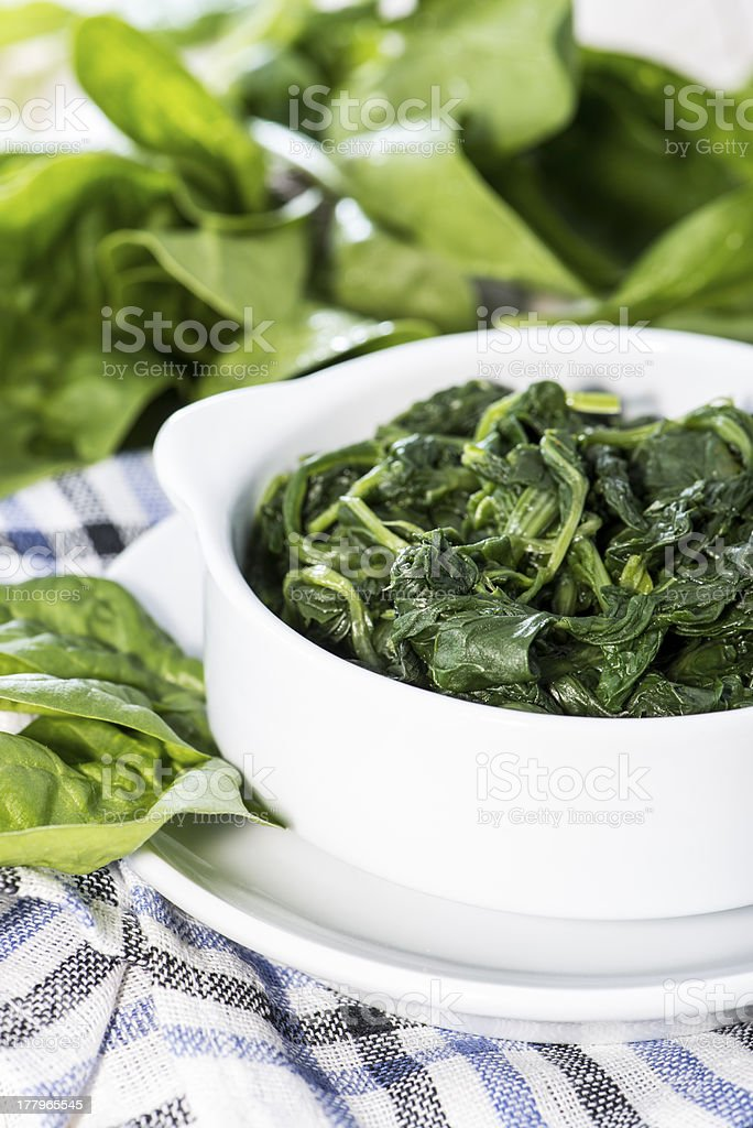Cooked Spinach royalty-free stock photo