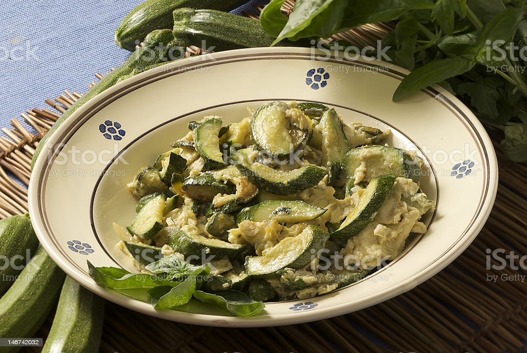 cooked zucchinis royalty-free stock photo