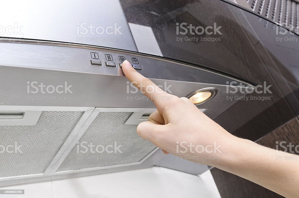 cooker hood stock photo