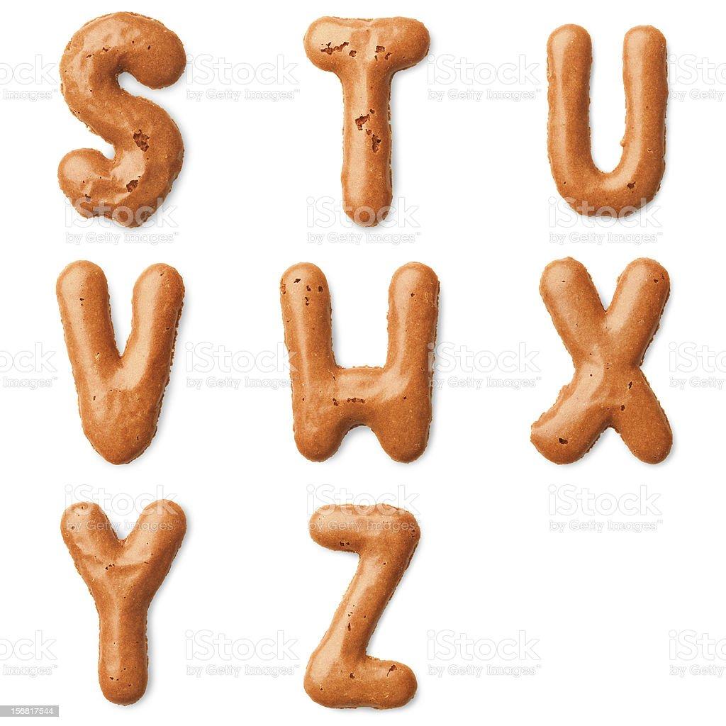 cookie alphabet letter stock photo