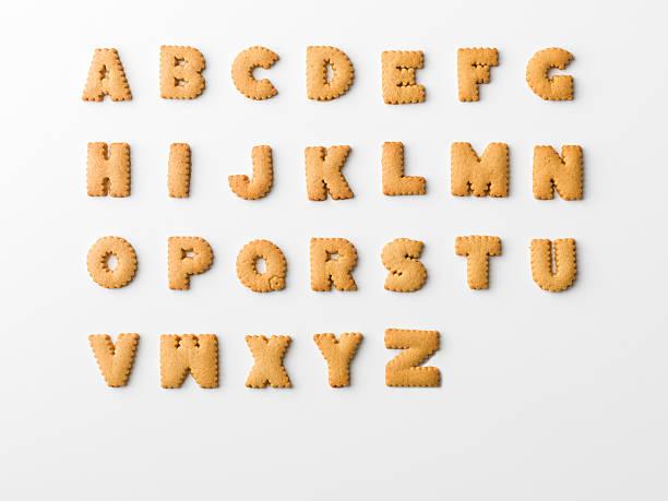 cookie alphabet stock photo