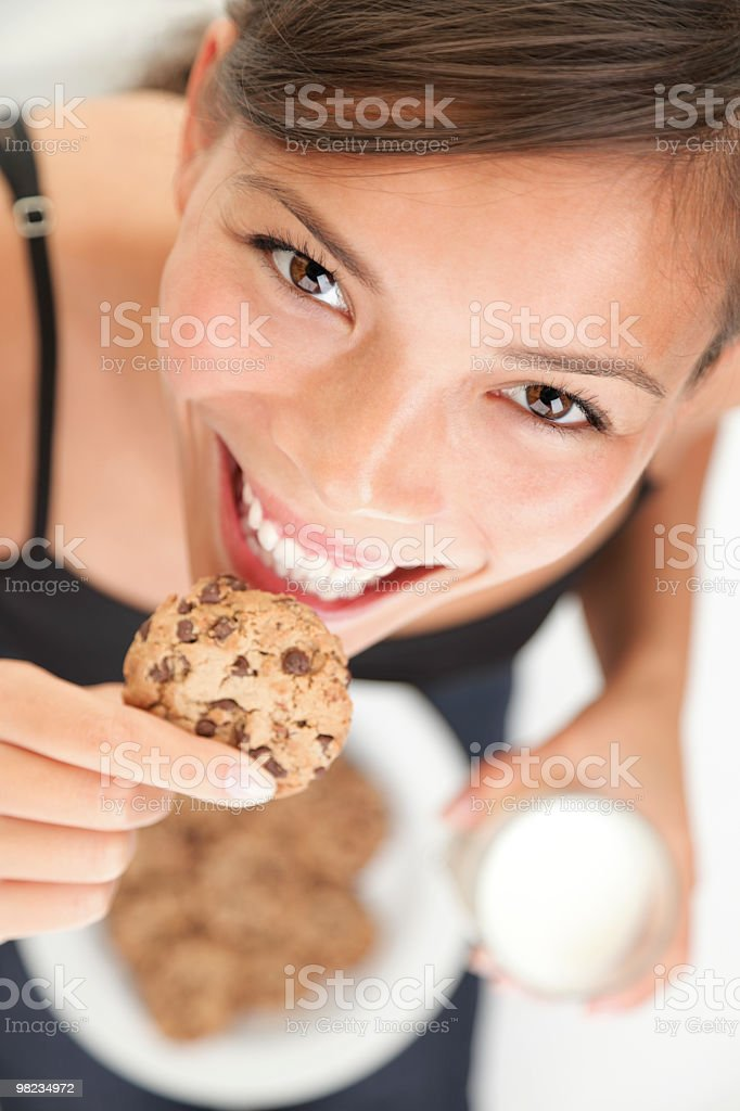 쿠키/우유 재미있음 royalty-free 스톡 사진