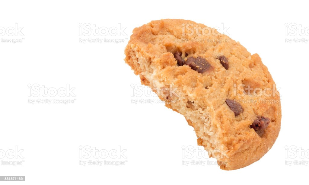 Cookie Biscuit with Bite Out stock photo