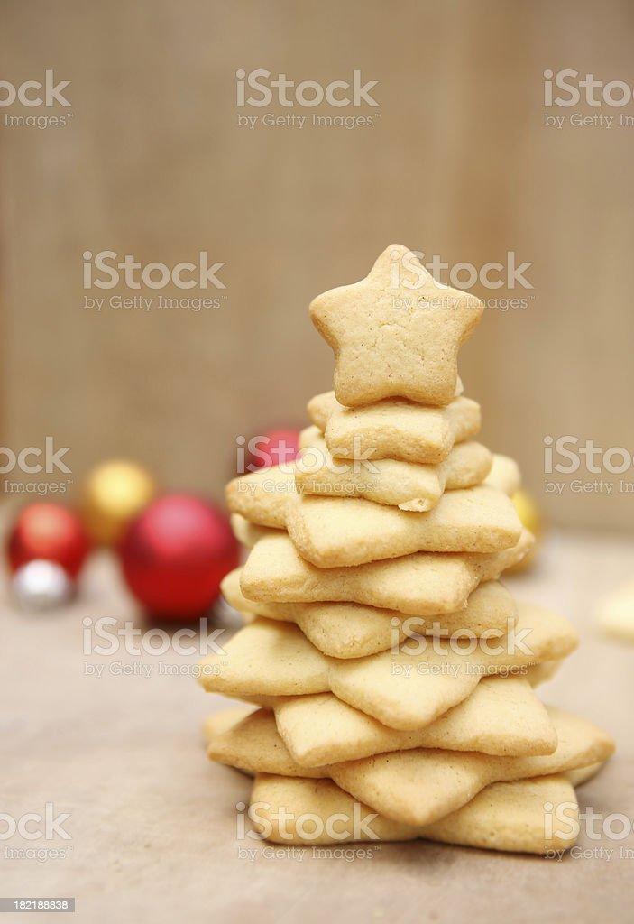 Cookie Christmas tree royalty-free stock photo