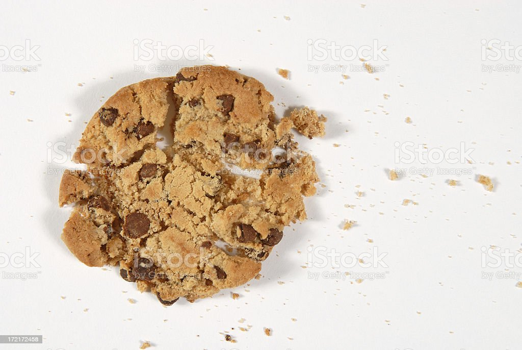 Cookie Crumbs royalty-free stock photo