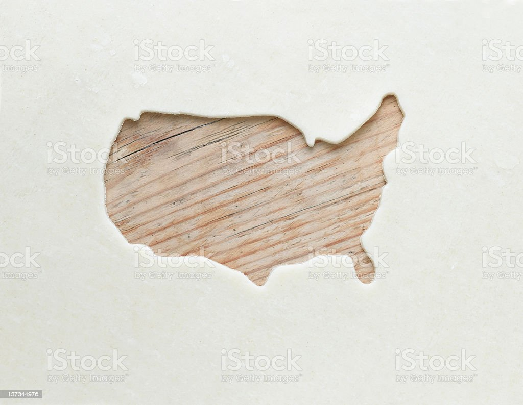 USA Cookie Cutout stock photo