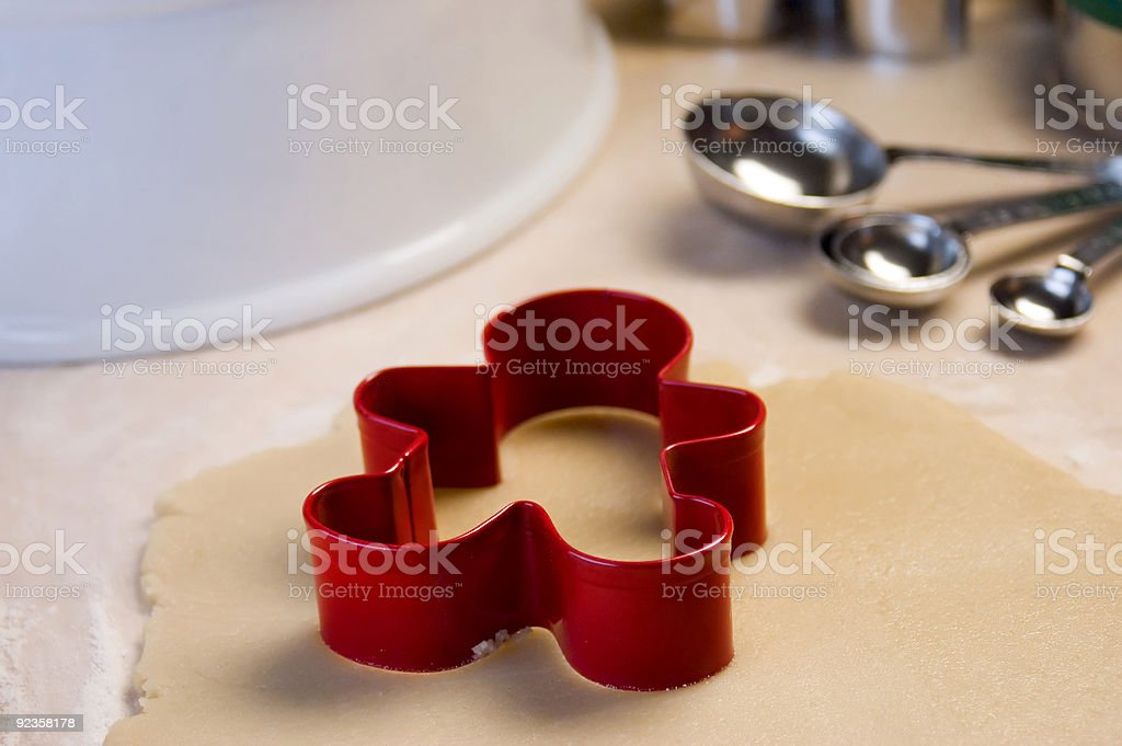 Cookie Cutter and Cookie Dough royalty-free stock photo
