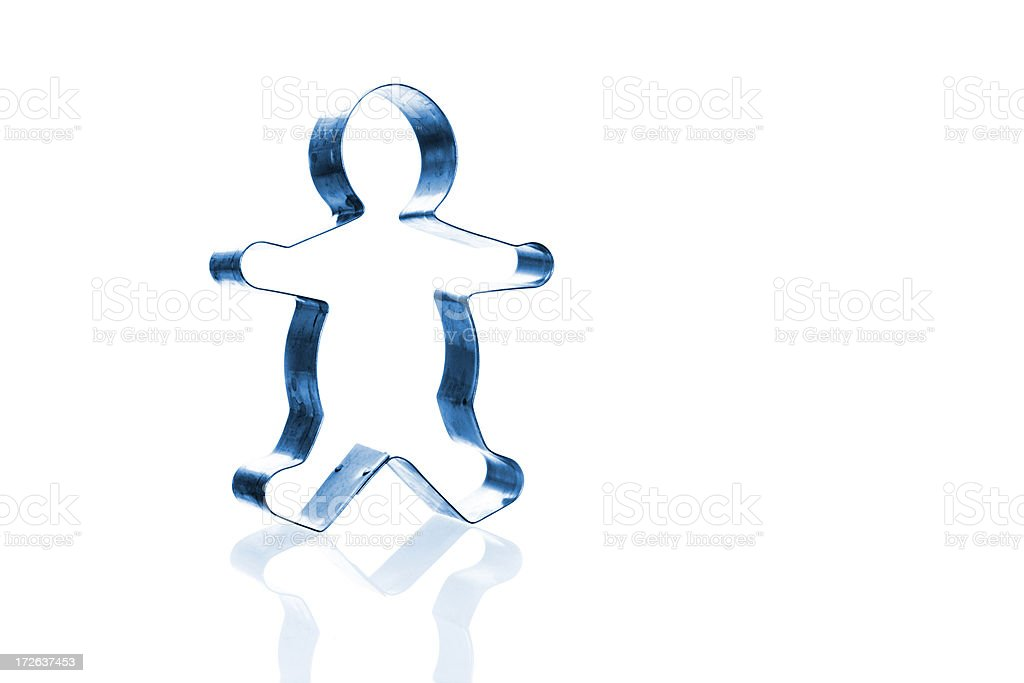Cookie Cutter Gingerbread Man 2 royalty-free stock photo