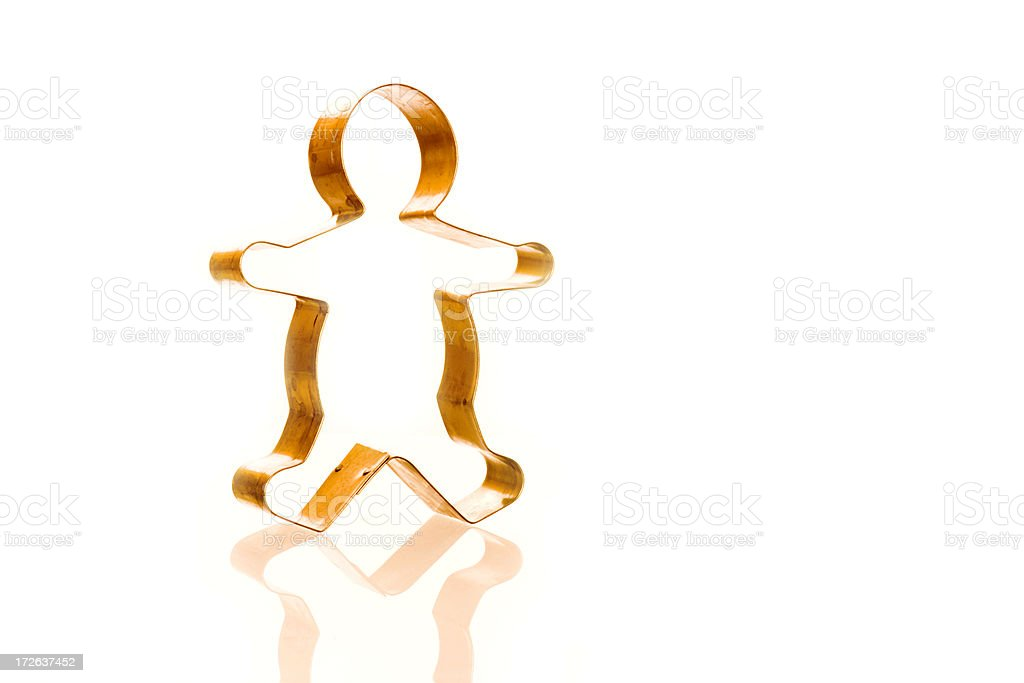 Cookie Cutter Gingerbread Man stock photo