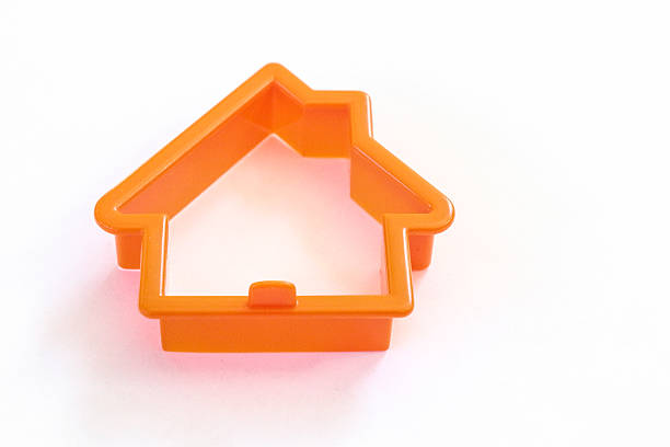 Cookie Cutter House - Laying Flat Cookie Cutter cookie cutter stock pictures, royalty-free photos & images