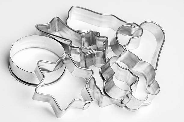 Cookie cutter Cookie cutter on  white background cookie cutter stock pictures, royalty-free photos & images
