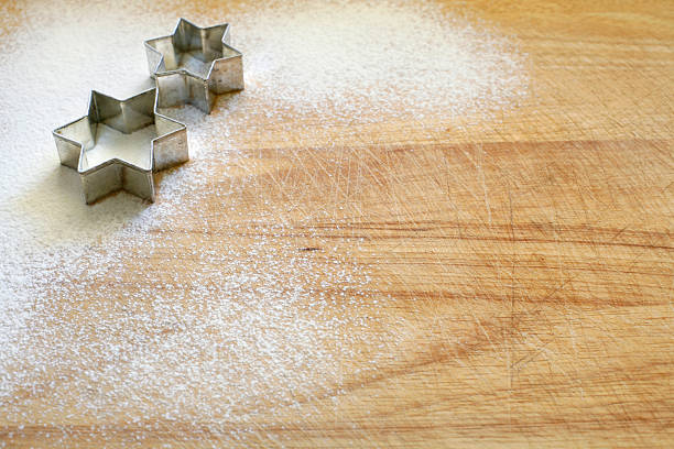 Cookie cutter_ two stars stock photo