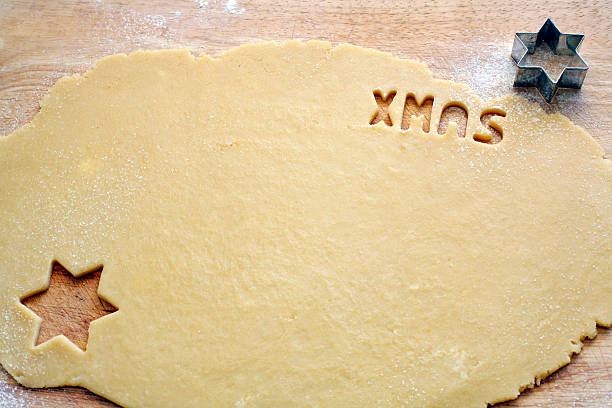 Cookie cutter_xmas stock photo