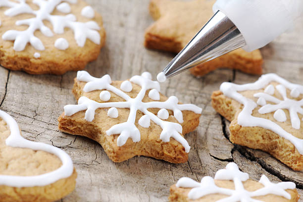 cookie decoration - decorating stock photos and pictures