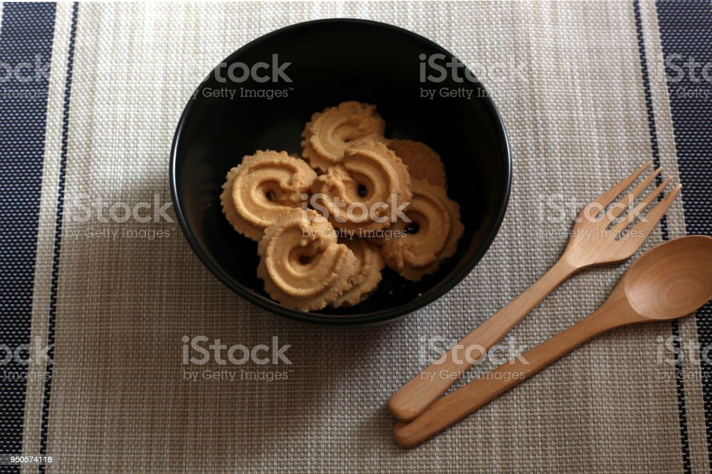 cookie dessert in bolw stock photo