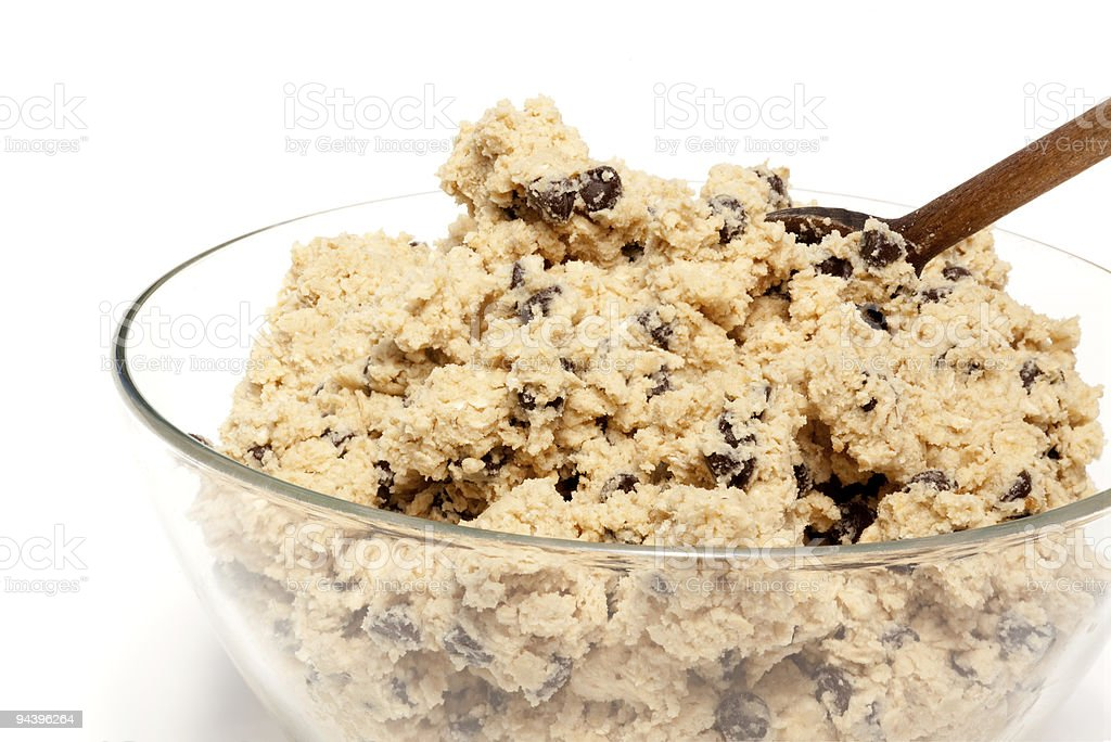 Cookie Dough Bowl royalty-free stock photo