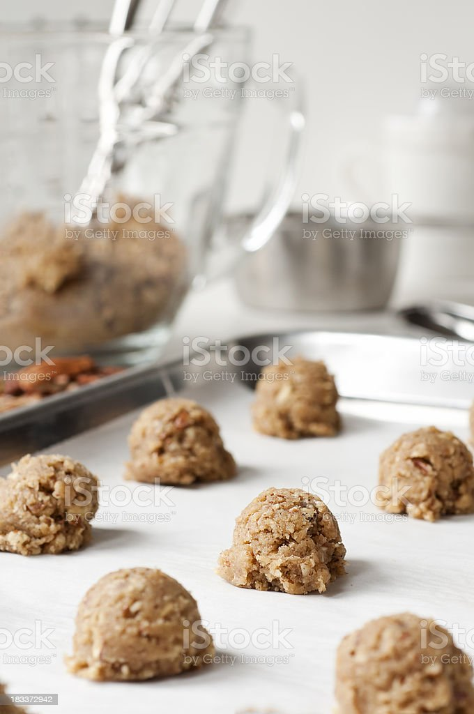 Cookie Dough on a Baking Sheet - Vertical royalty-free stock photo