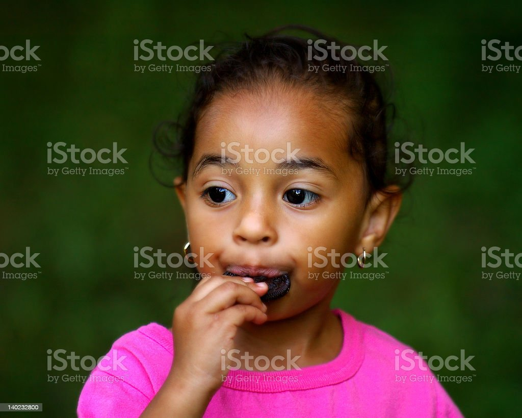Cookie Eater stock photo