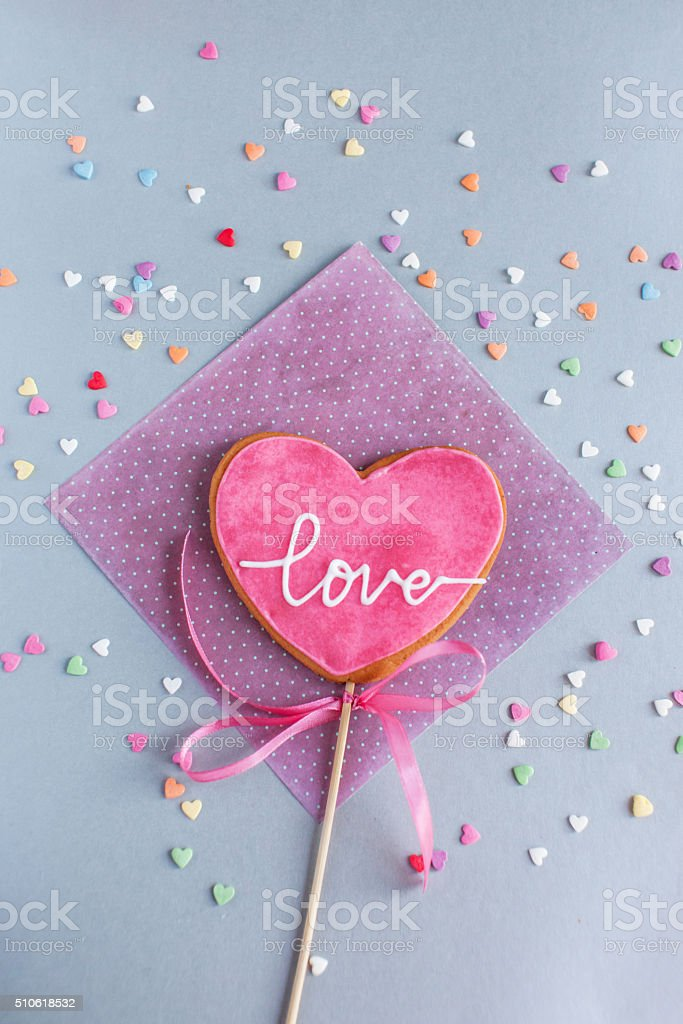cookie for Valentine day stock photo