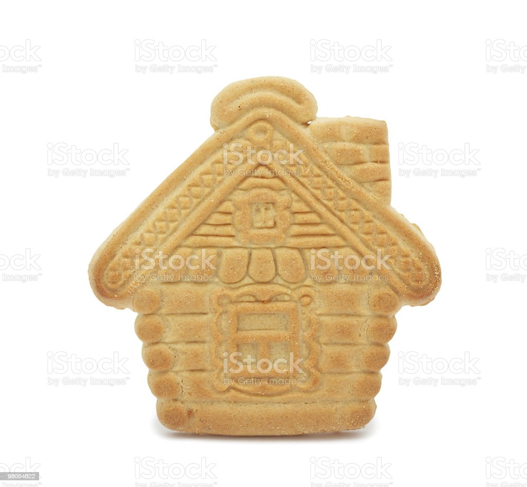 Cookie 'house', isolated royalty-free stock photo