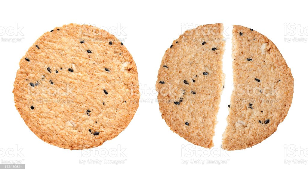 Cookie isolated on white background royalty-free stock photo