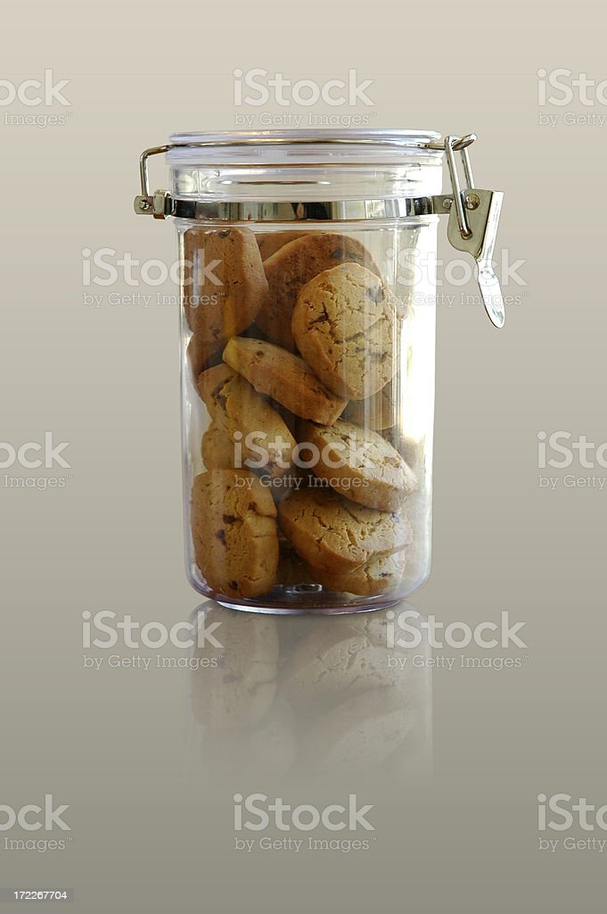 Cookie jar object with clipping path royalty-free stock photo