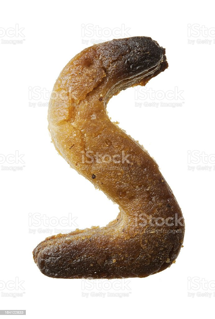 Cookie letter royalty-free stock photo