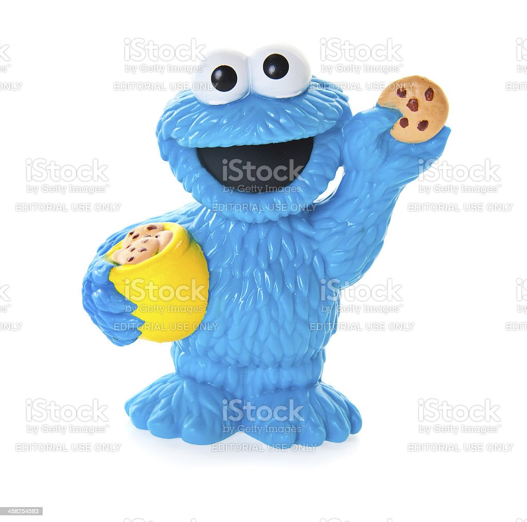 Cookie Monster Plastic Toy Sesame Street Stock Photo - Download