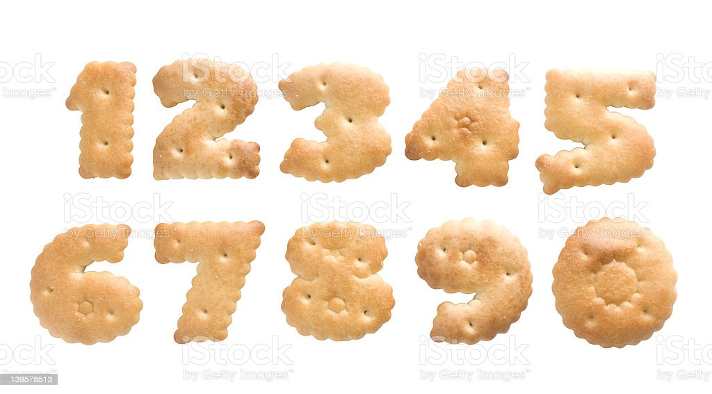 cookie number royalty-free stock photo