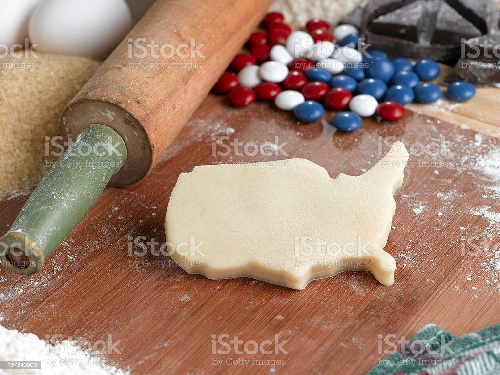USA cookie stock photo