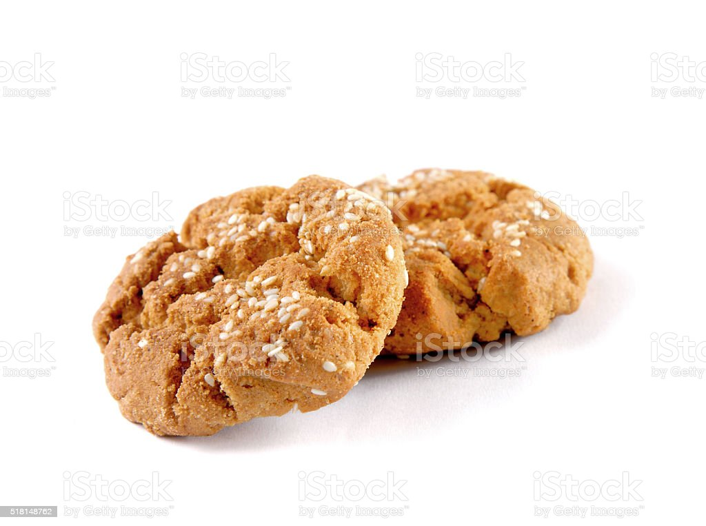 Cookie sweets on white background stock photo