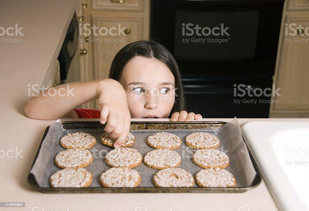 Cookie Thief stock photo