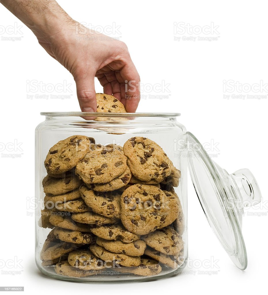 Cookie thief with clipping path stock photo