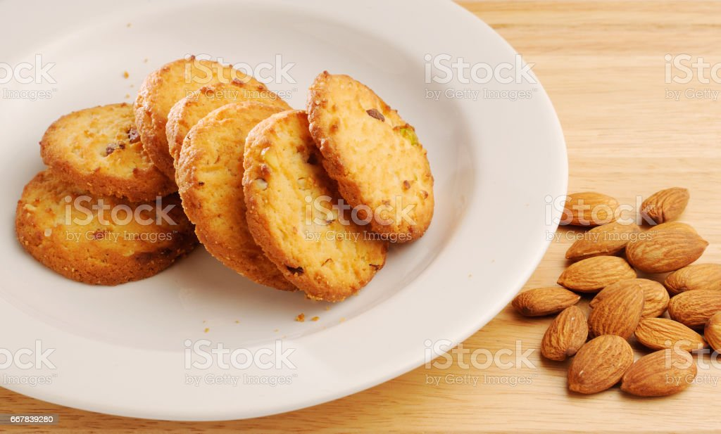 cookie with almond filling stock photo