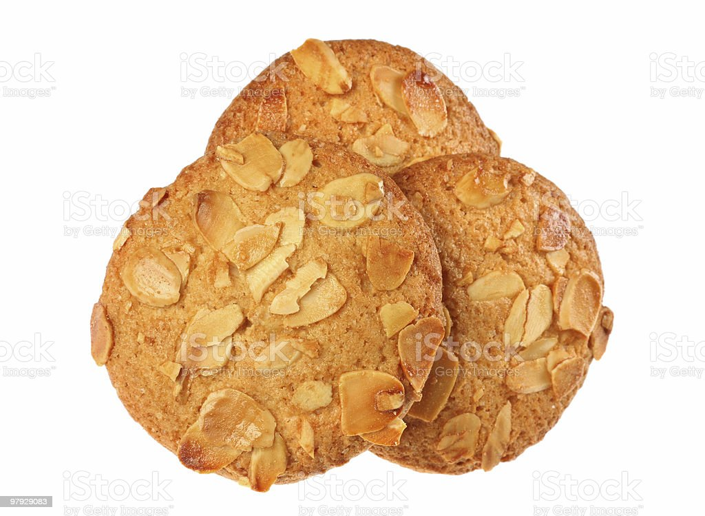 Cookie with almond royalty-free stock photo