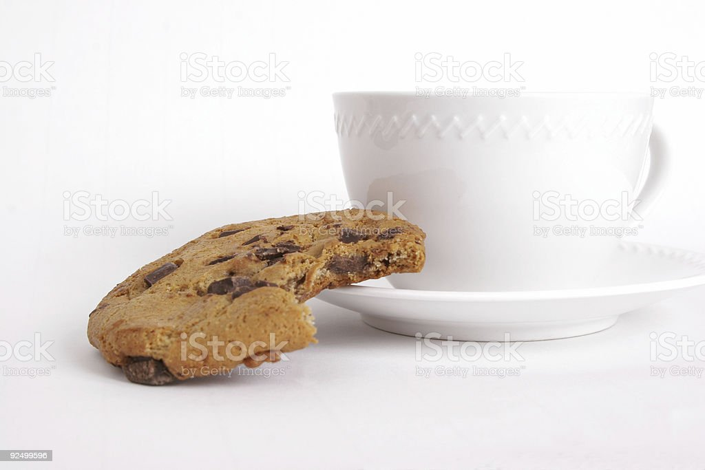 Cookie with coffee royalty-free stock photo