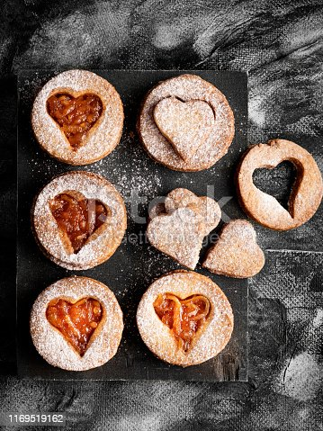 Heart Shape, Cookie, Baked, Baked Pastry Item, Food,biscuit,Jam Cookie,Austrian Culture, Christmas cookies,Christmas,jam,Linz cookie,orange jam, Valentine' Day, love,