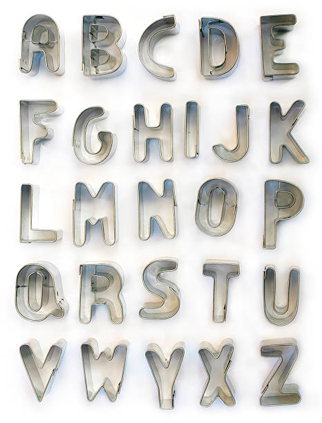 Cookiecutter alphabet Cookiecutter alphabet cookie cutter stock pictures, royalty-free photos & images