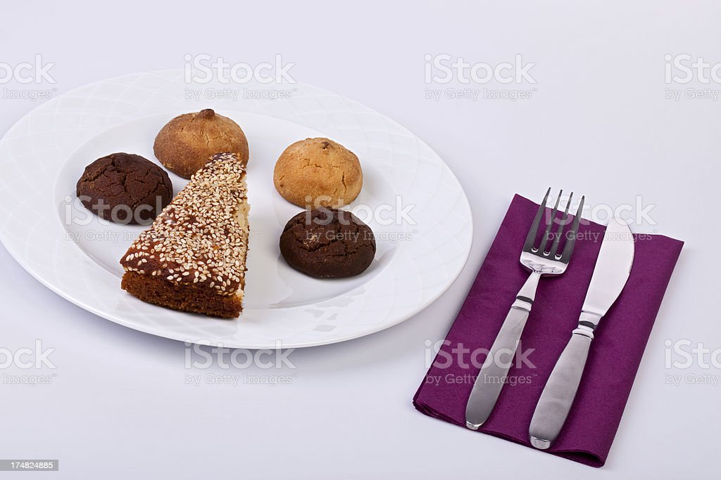cookies and cake royalty-free stock photo
