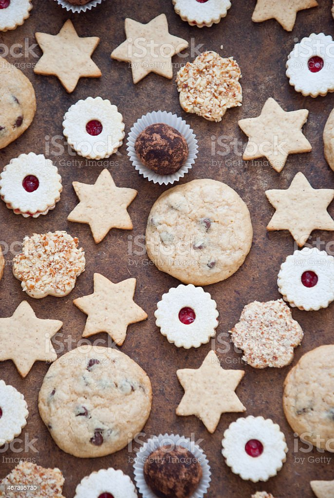 Cookies and candy stock photo