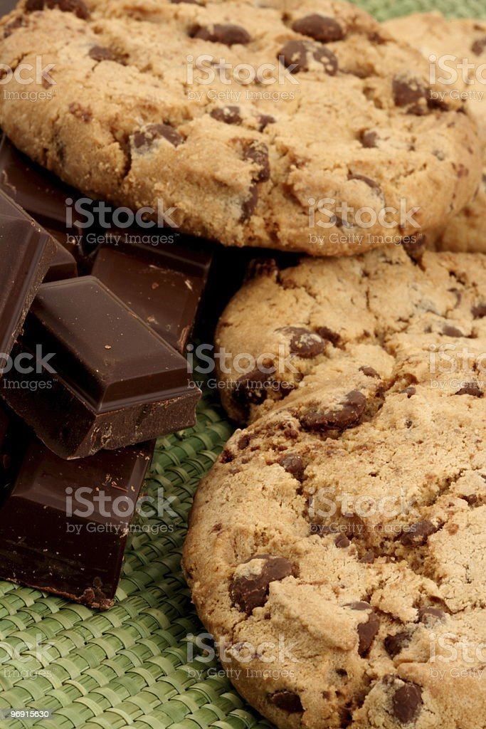 Cookies and chocolat royalty-free stock photo