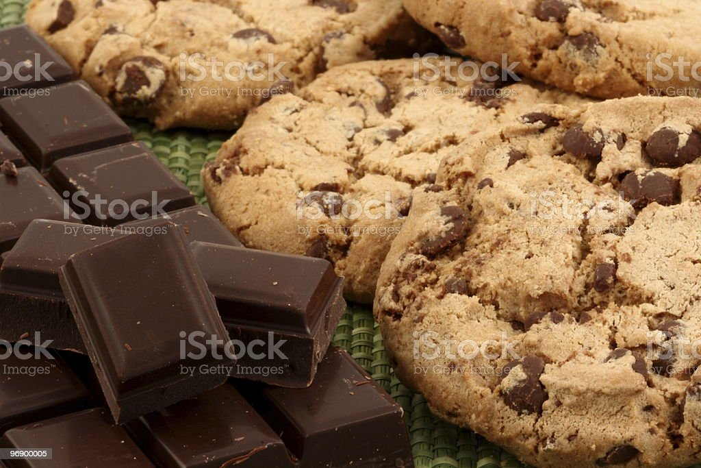 Cookies and chocolate royalty-free stock photo