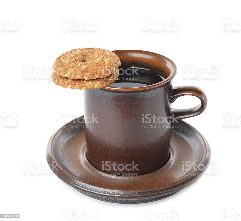 Cookies and coffee cup royalty-free stock photo