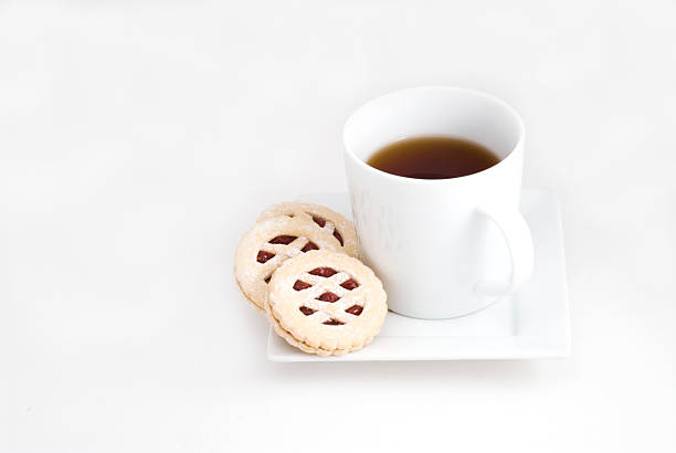 Cookies and Hot Beverage stock photo