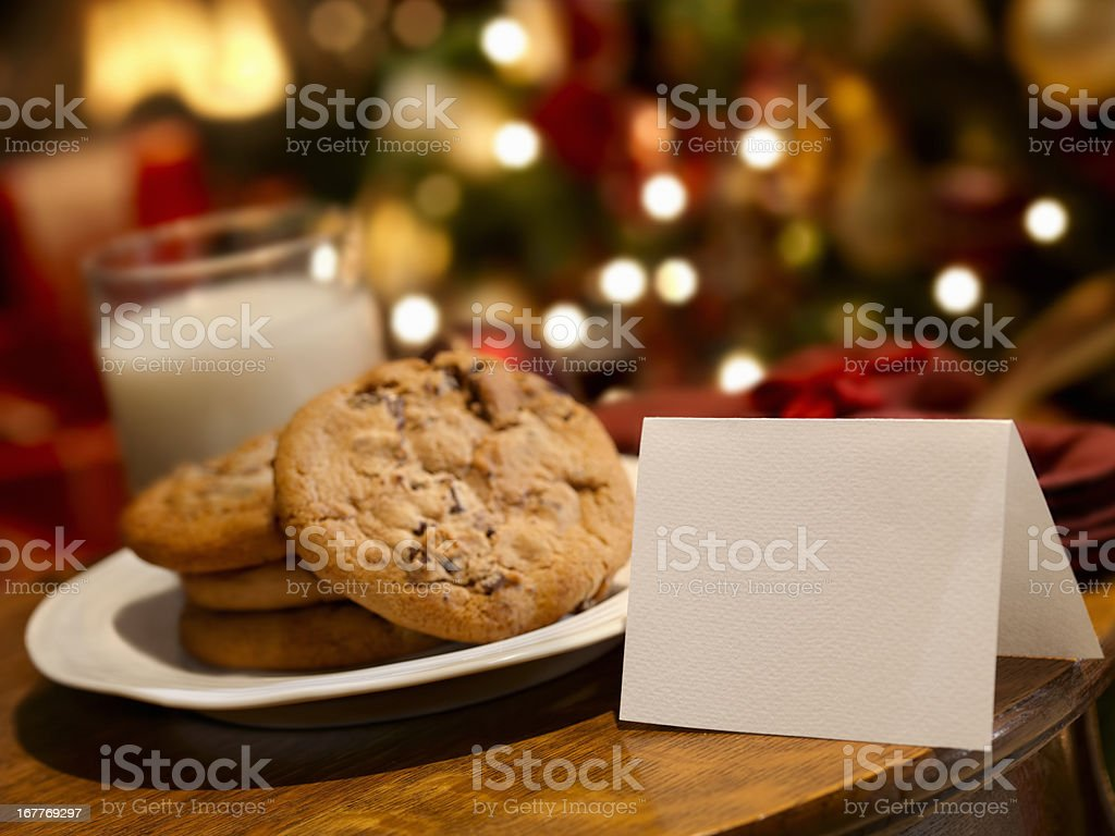 Cookies and Milk for Santa royalty-free stock photo